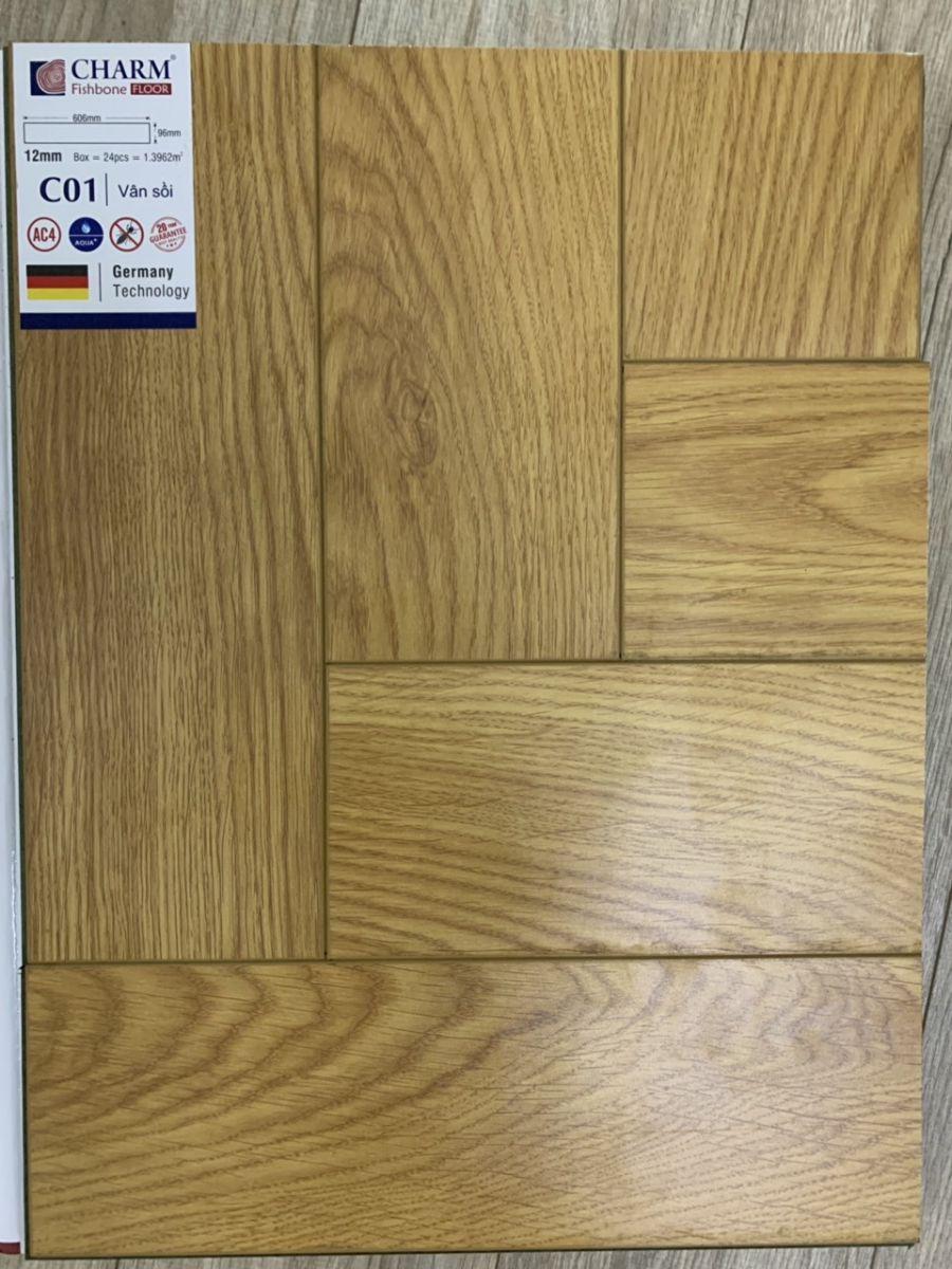 Sàn gỗ xương cá charmwood C01