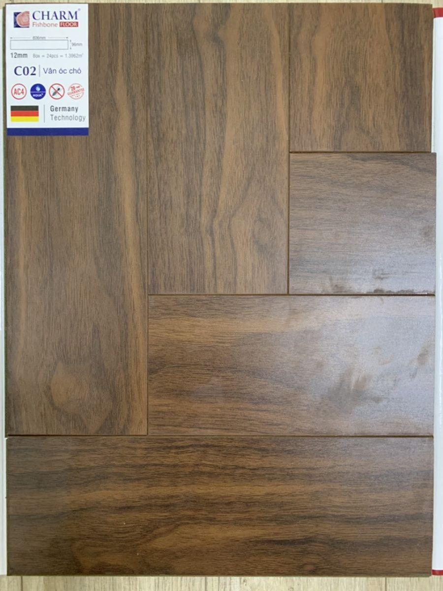 Sàn gỗ xương cá charmwood C02