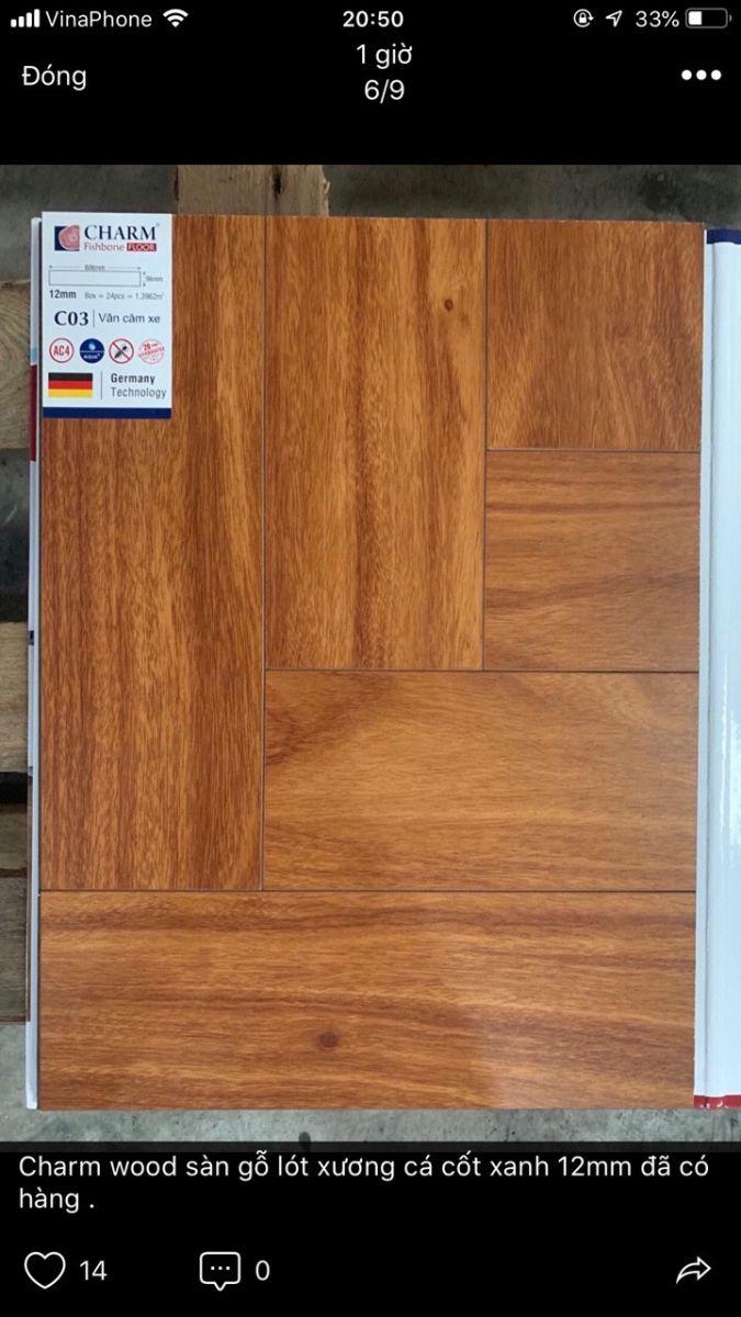 Sàn gỗ xương cá charmwood C03