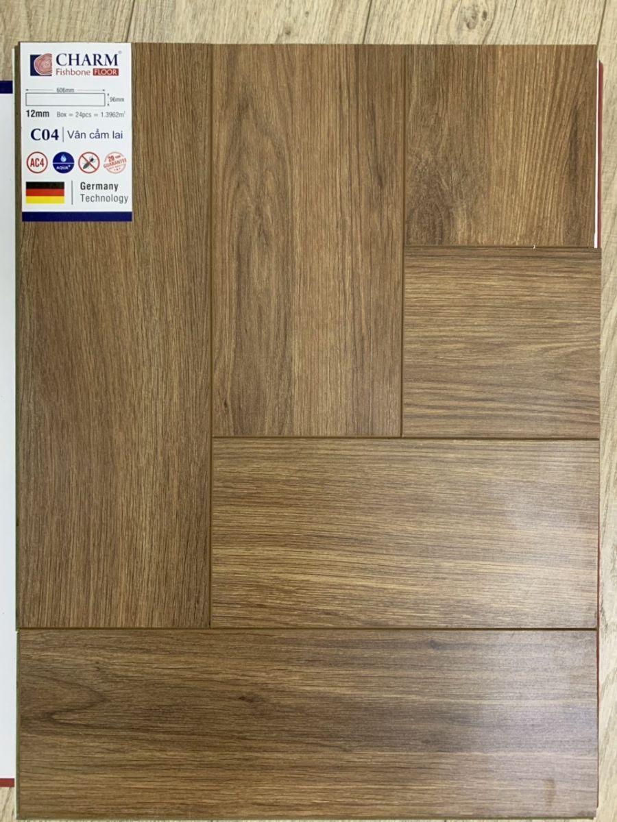 Sàn gỗ xương cá charmwood C04